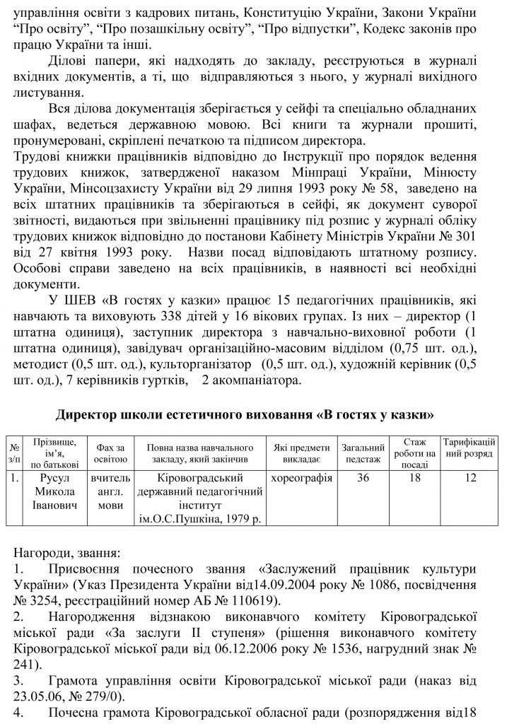 Довідка УОКМР про результати державної атестації ШЕВ В гостях у казки-32