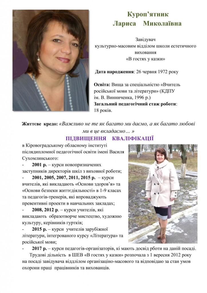 Портфоліо Куропятник Лариса Миколаївна - лютий 2018-1