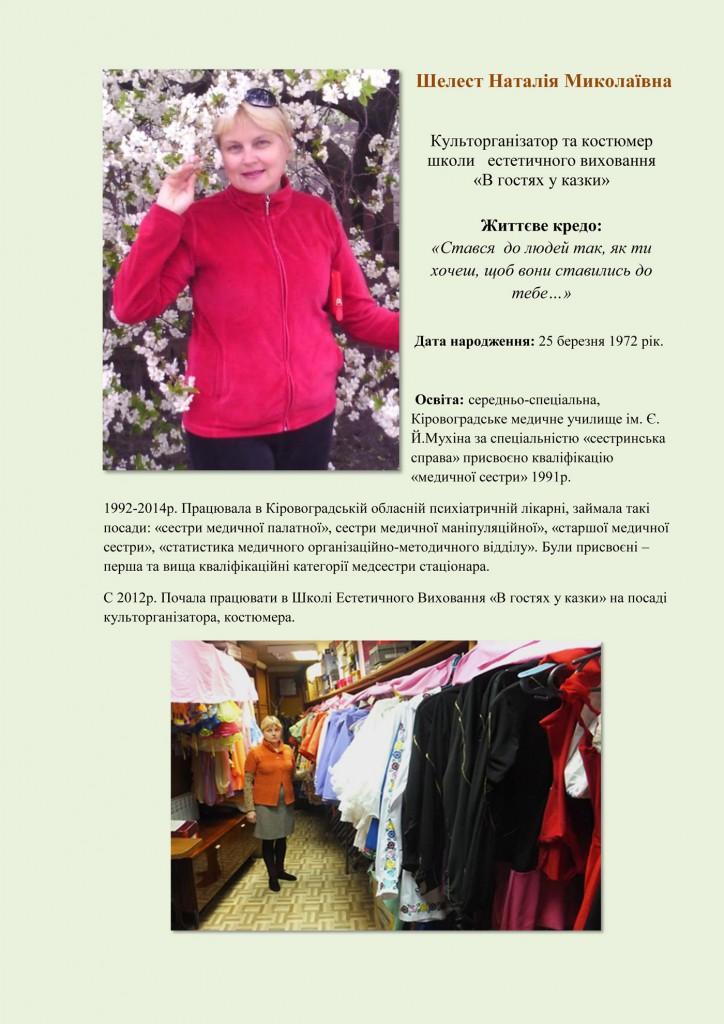 Шелест Наталія Миколаївна