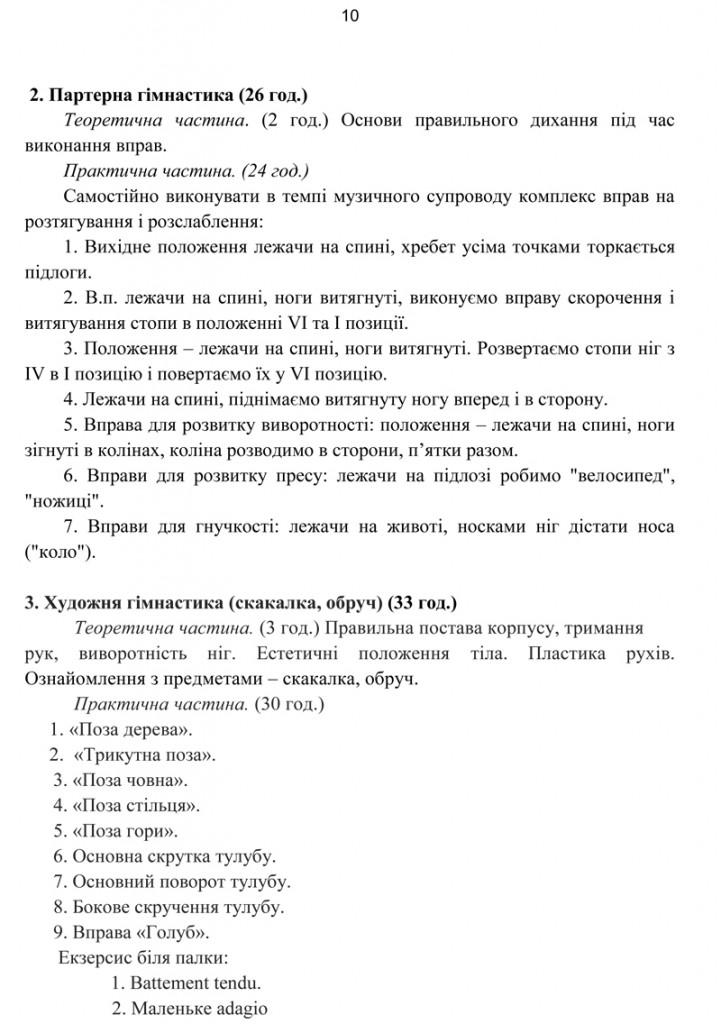 Програма Сценічна гімнастика.11