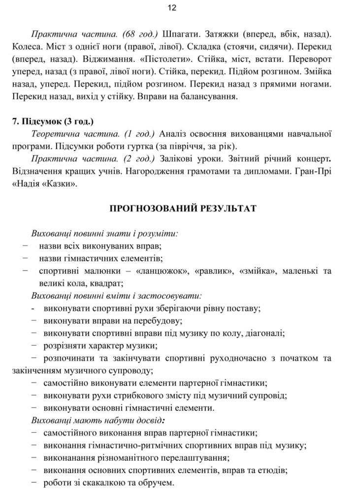 Програма Сценічна гімнастика.13