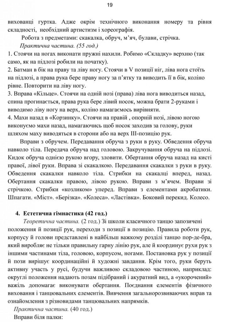 Програма Сценічна гімнастика.19