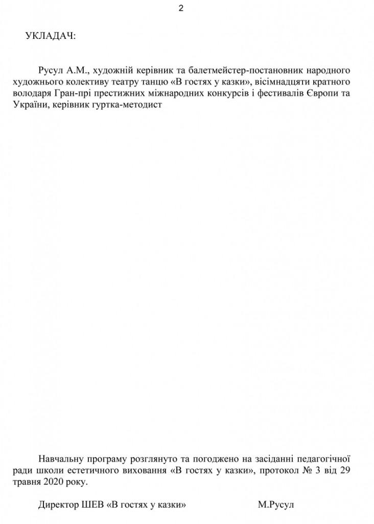 Програма Сценічна гімнастика.2
