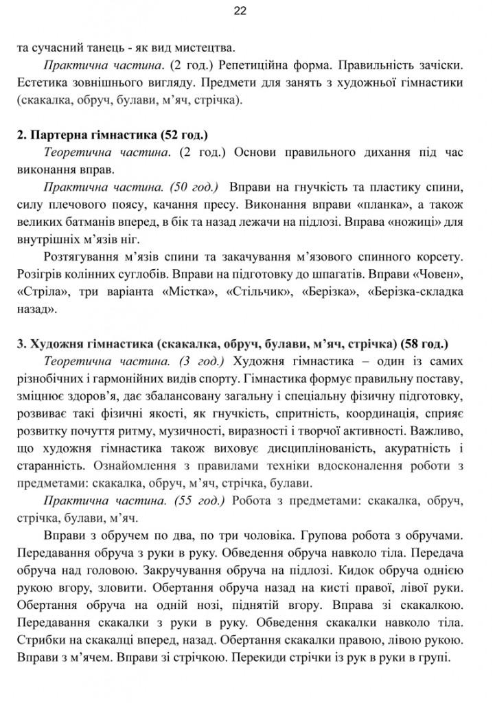 Програма Сценічна гімнастика.22