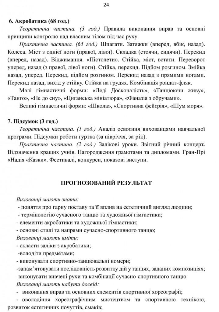 Програма Сценічна гімнастика.24