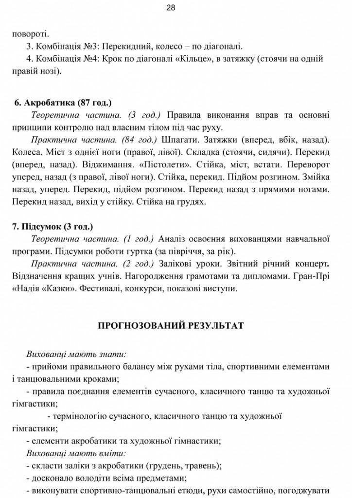 Програма Сценічна гімнастика.28