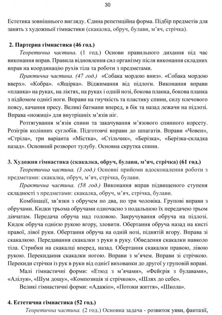 Програма Сценічна гімнастика.30