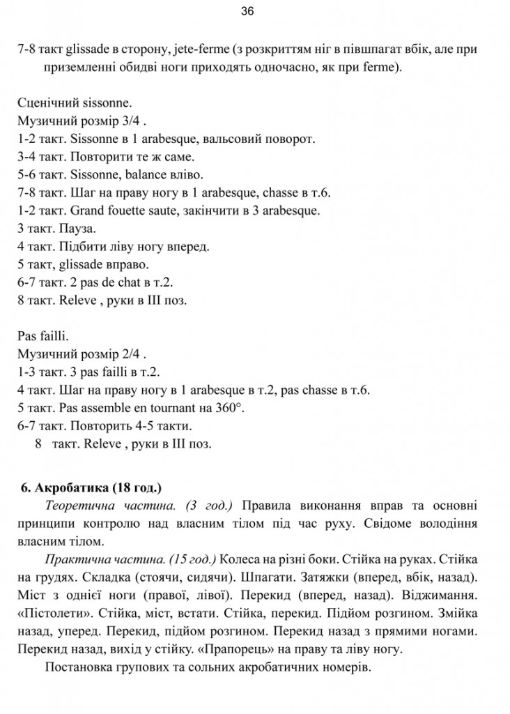 Програма Сценічна гімнастика.36