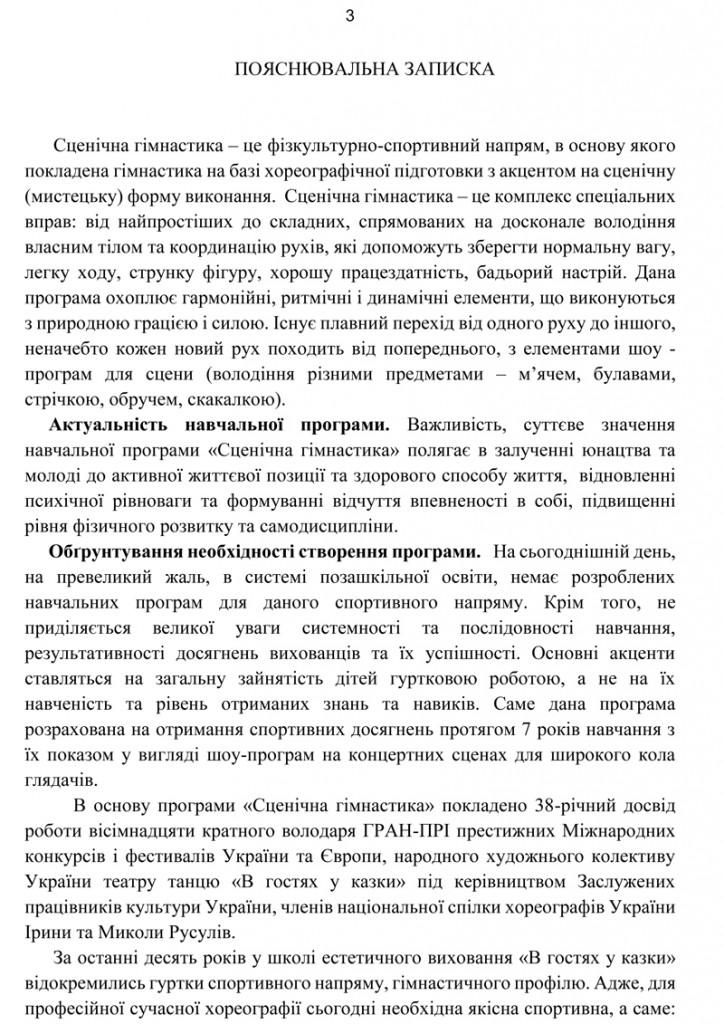 Програма Сценічна гімнастика.4