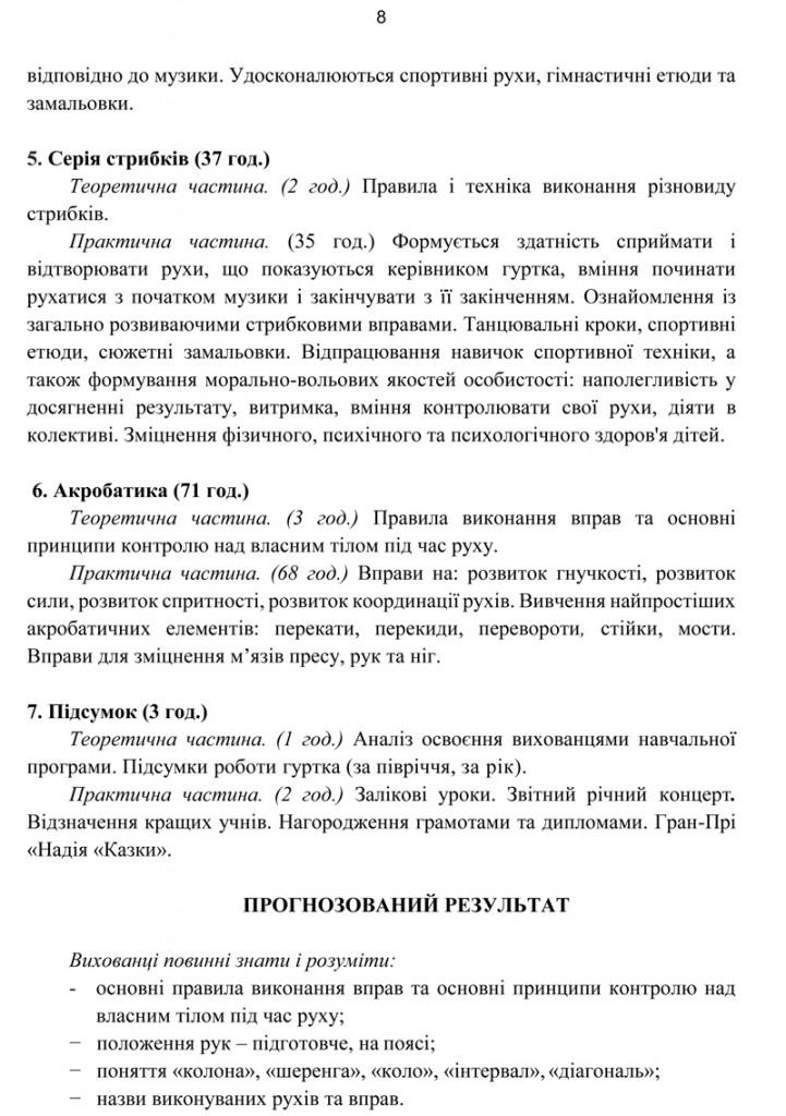 Програма Сценічна гімнастика.9