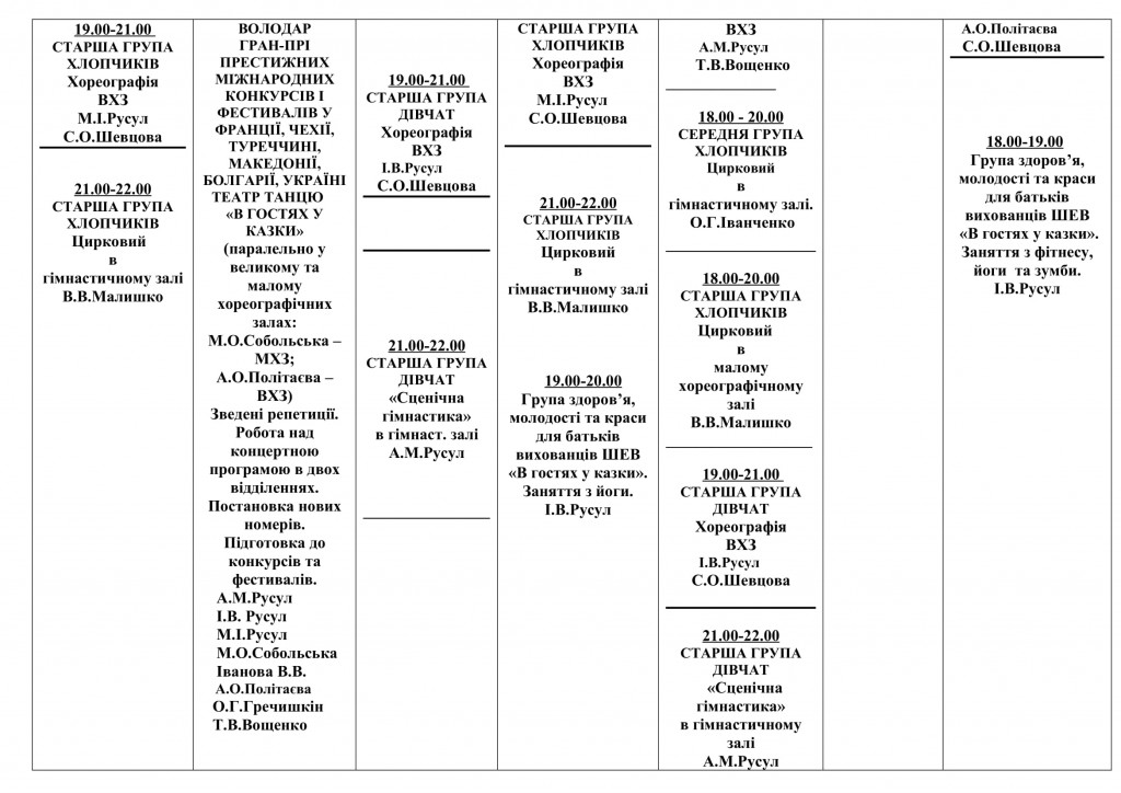 Розклад занять  2020-2021  ІІ семестр-3